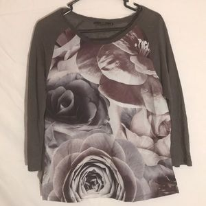 Zara Floral Print Sweater